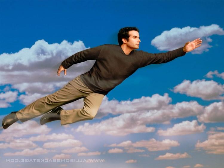 david flying